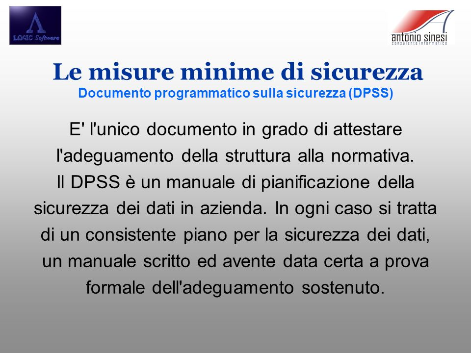 E l unico documento in grado di attestare