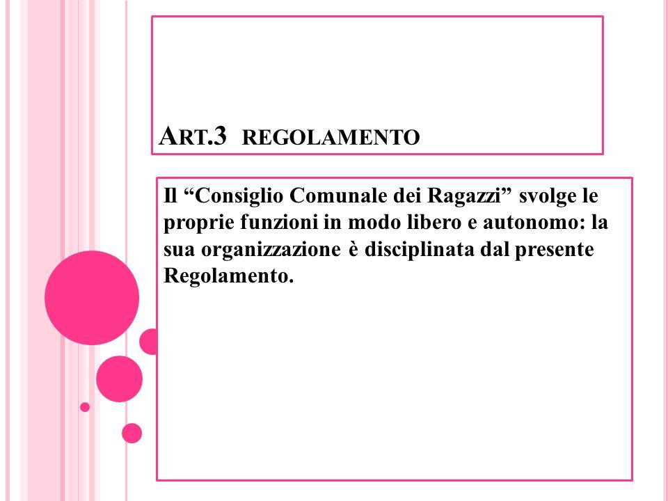Art.3 regolamento