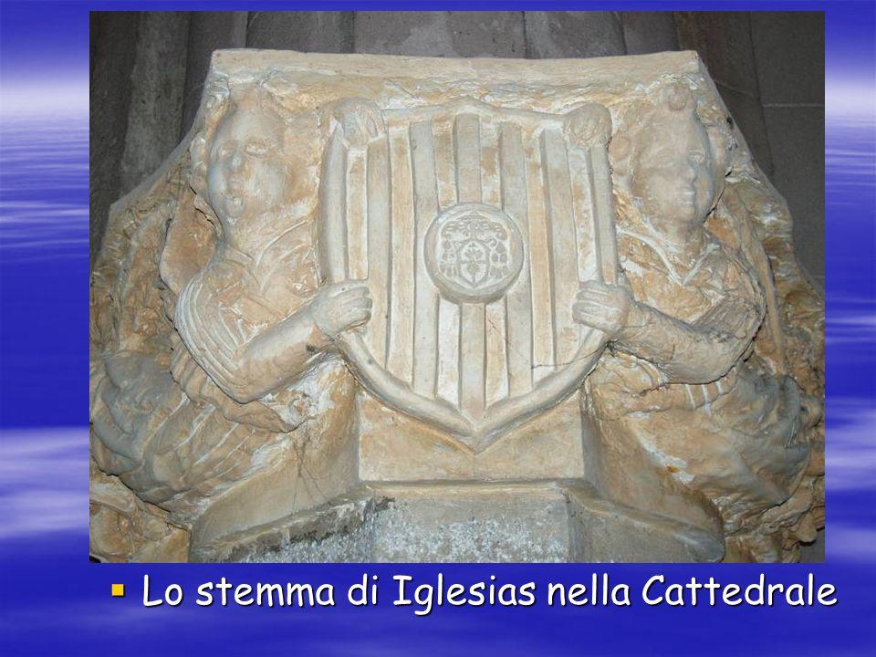 Lo stemma di Iglesias nella Cattedrale