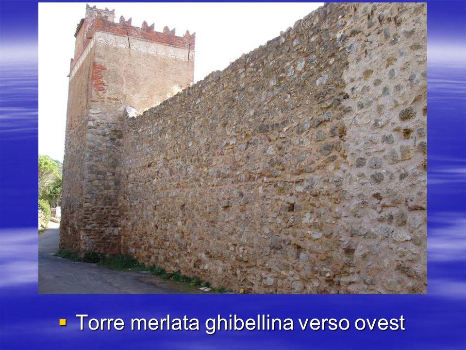 Torre merlata ghibellina verso ovest