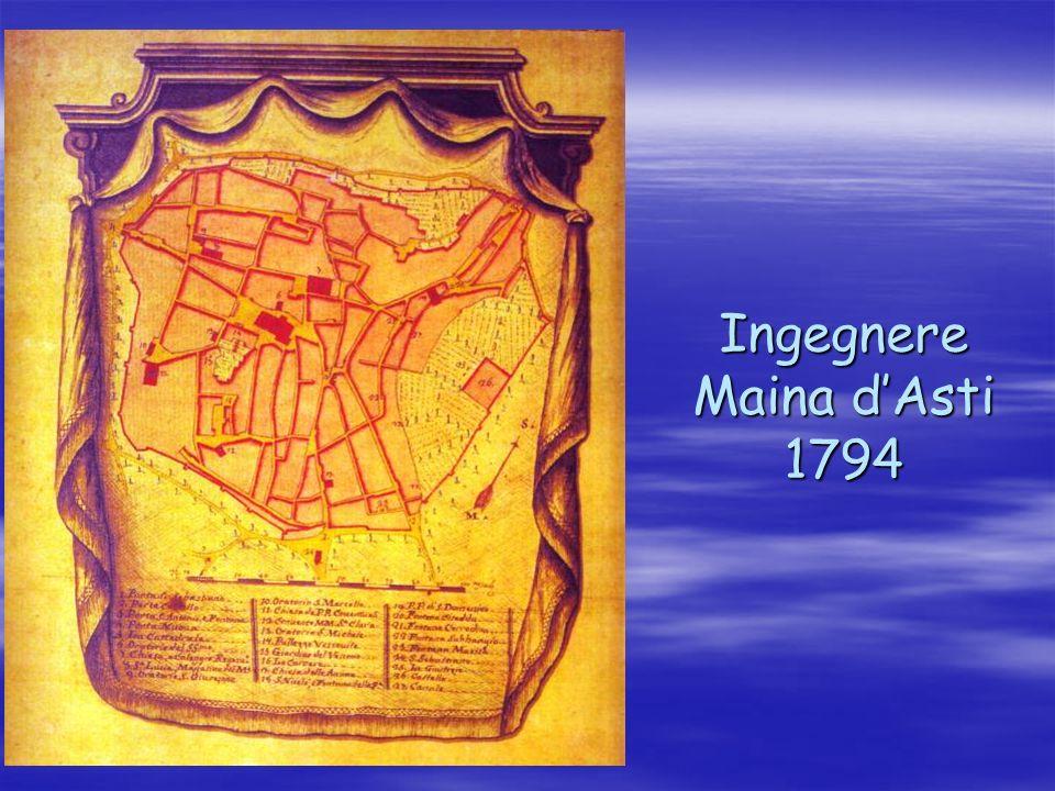 Ingegnere Maina d'Asti 1794