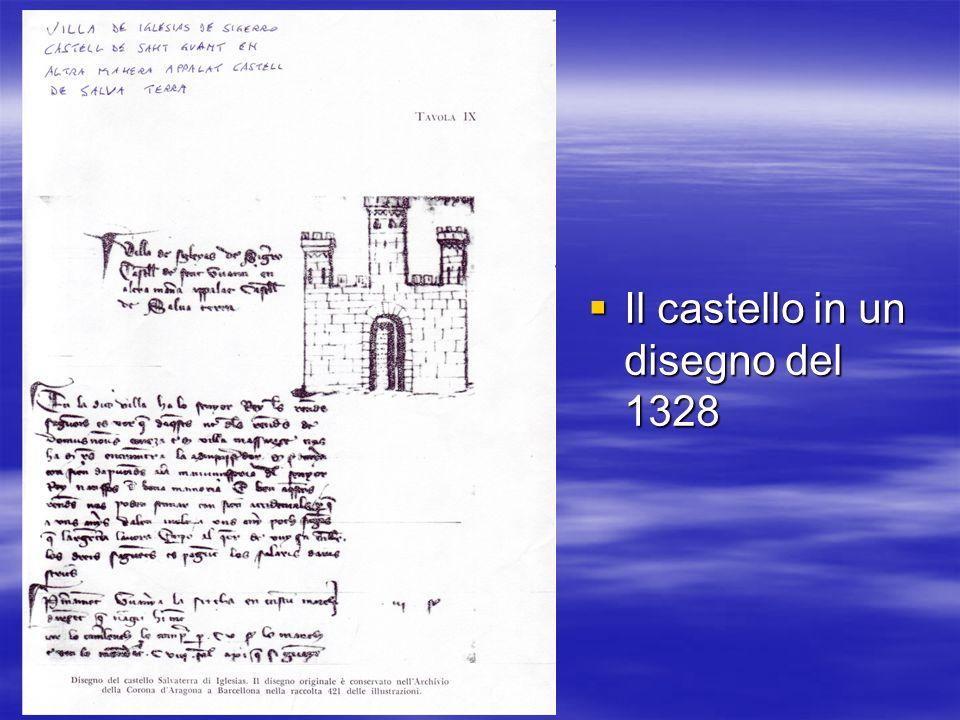 Il castello in un disegno del 1328