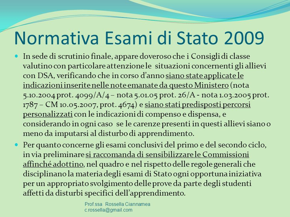 Normativa Esami di Stato 2009