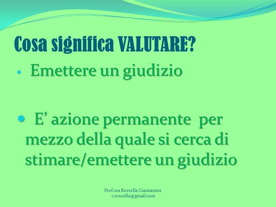 Cosa significa VALUTARE