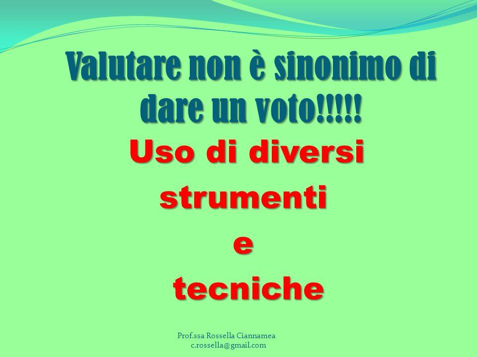 Valutare non è sinonimo di dare un voto!!!!!