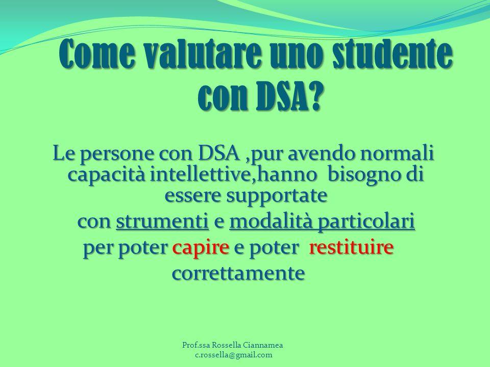 Come valutare uno studente con DSA