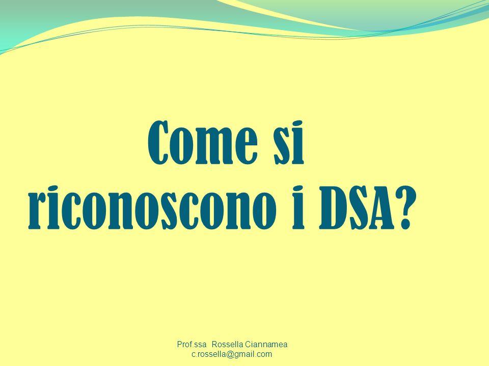 Come si riconoscono i DSA