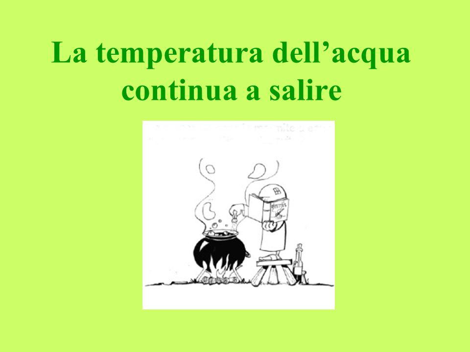 La temperatura dell'acqua continua a salire