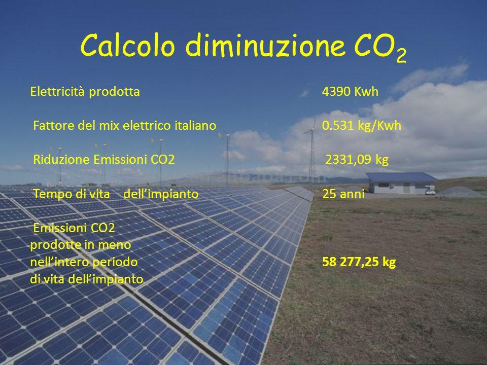 Calcolo diminuzione CO2