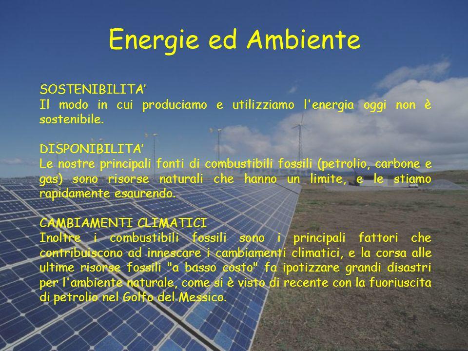 Energie ed Ambiente SOSTENIBILITA'