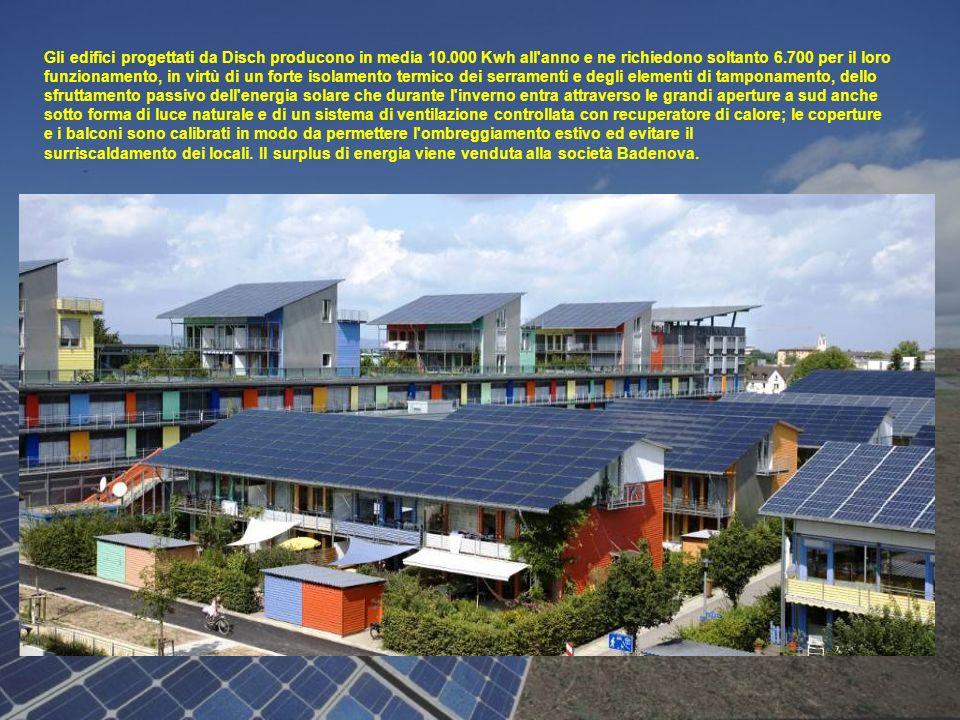 Gli edifici progettati da Disch producono in media 10