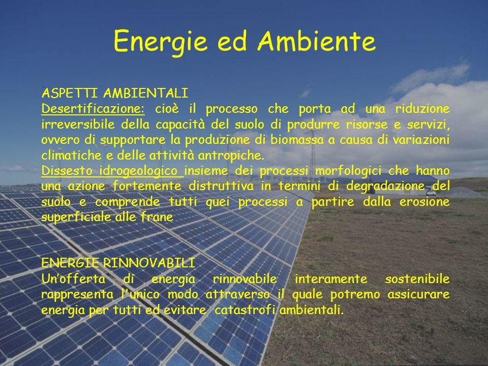 Energie ed Ambiente ASPETTI AMBIENTALI