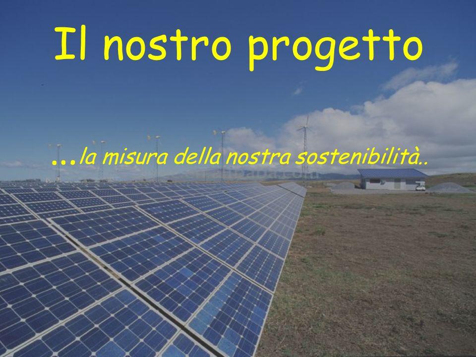 Il nostro progetto …la misura della nostra sostenibilità..