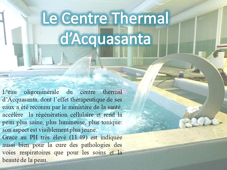 Le Centre Thermal d'Acquasanta