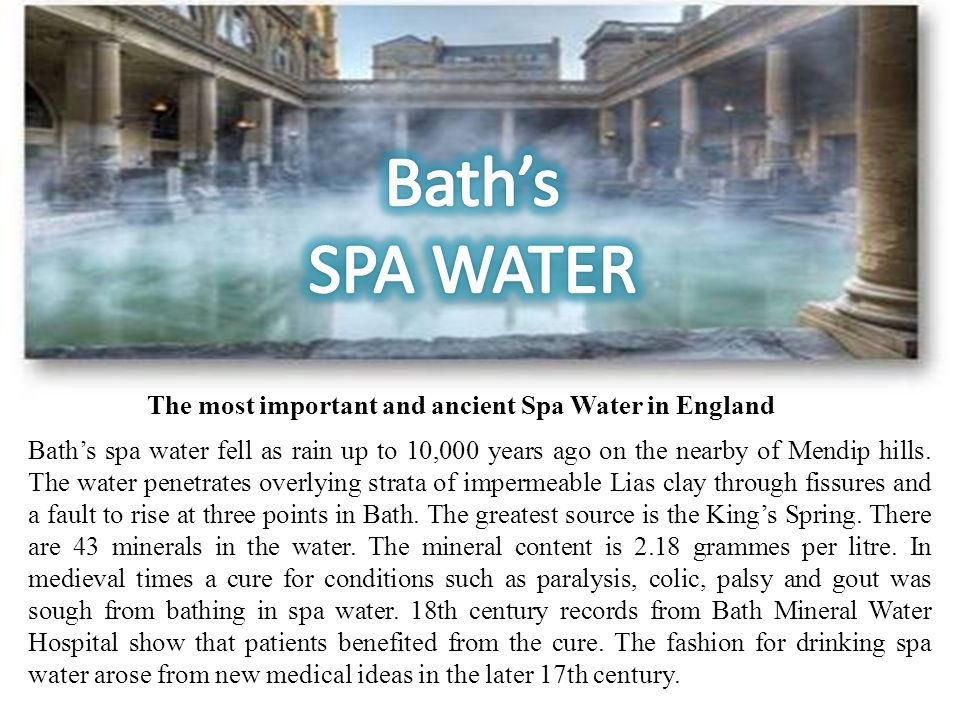 The most important and ancient Spa Water in England