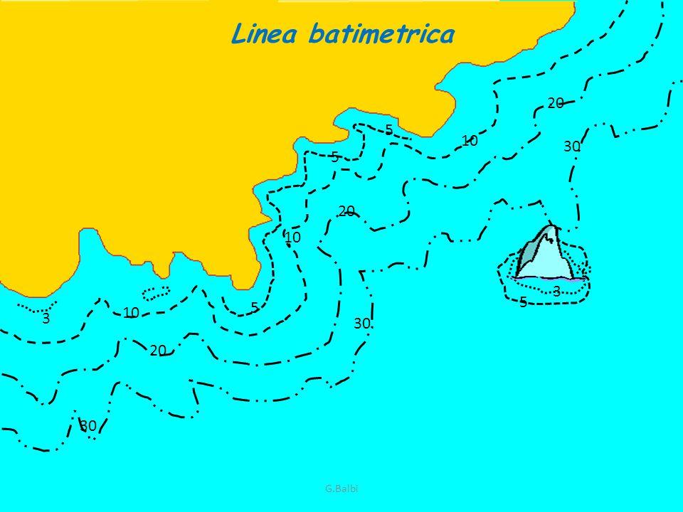 Linea batimetrica 20 5 10 30 5 20 10 3 5 5 10 3 30 20 30 G.Balbi