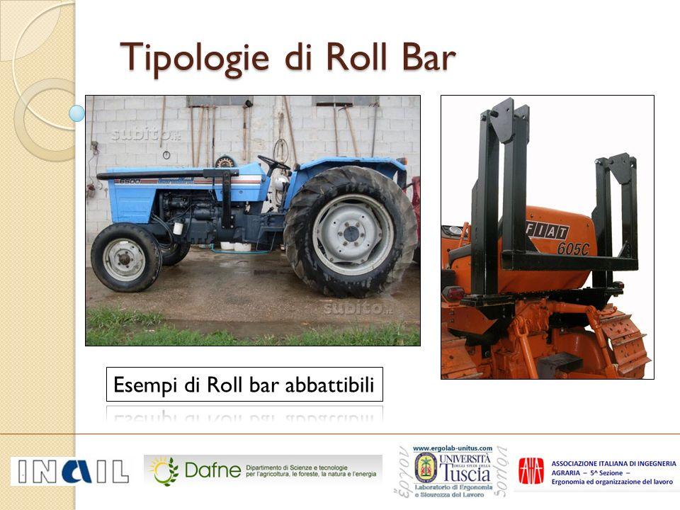 Tipologie di Roll Bar Esempi di Roll bar abbattibili