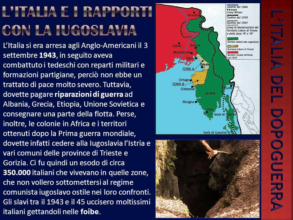 L'italia e i rapporti con la Iugoslavia