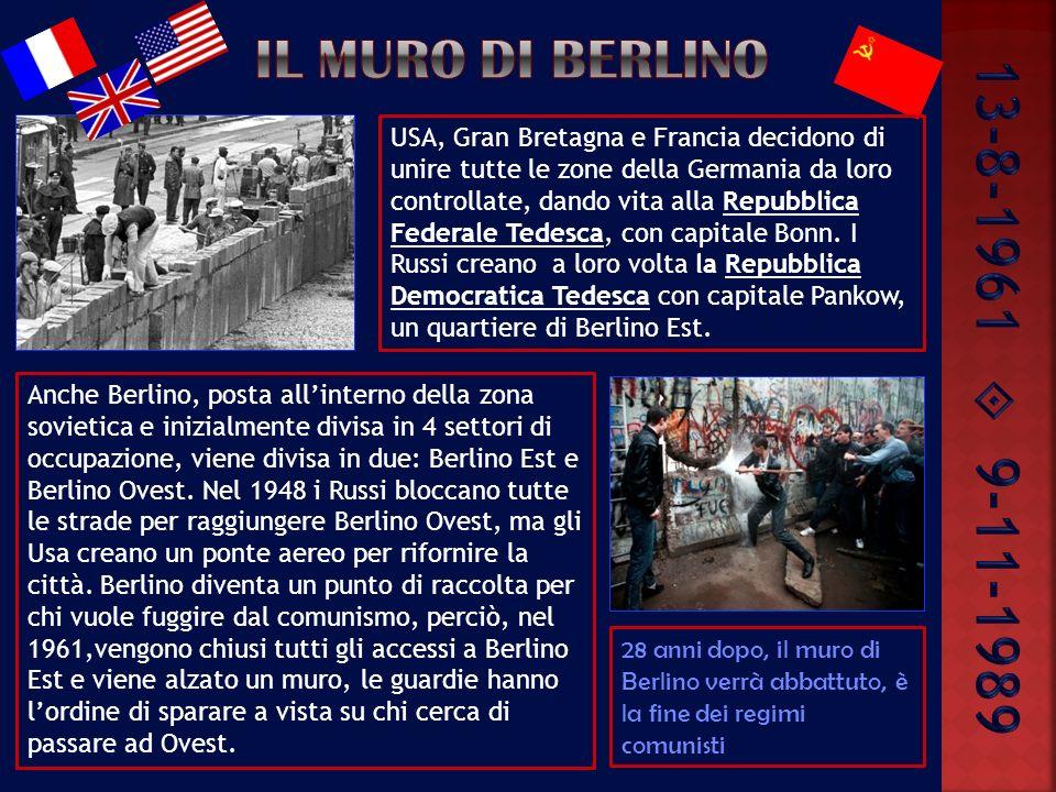 13-8-1961  9-11-1989 Il muro di berlino