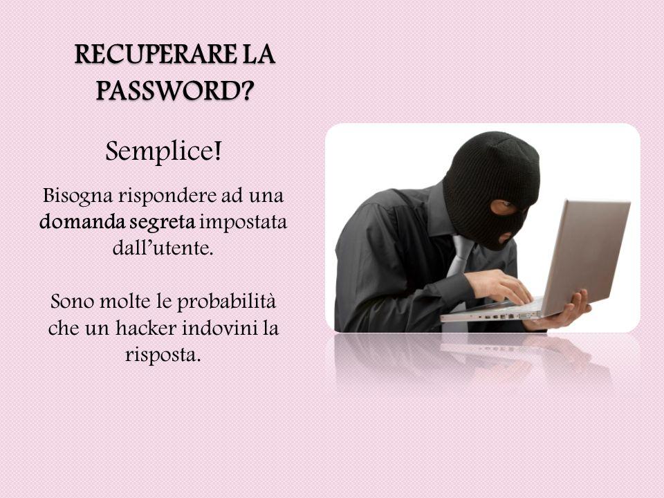 Recuperare la password