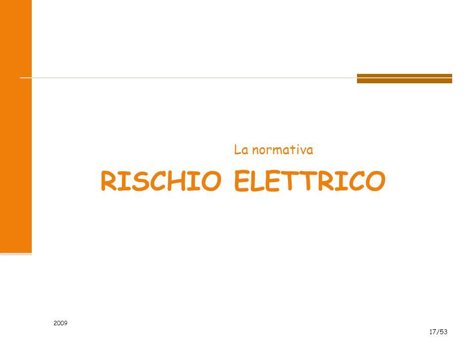 La normativa Rischio elettrico 2009