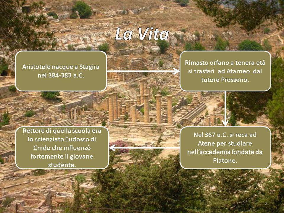 Aristotele nacque a Stagira nel 384-383 a.C.