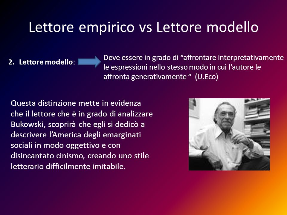Lettore empirico vs Lettore modello
