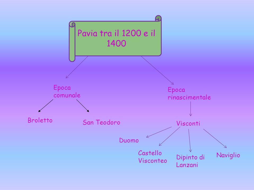 Pavia tra il 1200 e il 1400 Epoca comunale Epoca rinascimentale