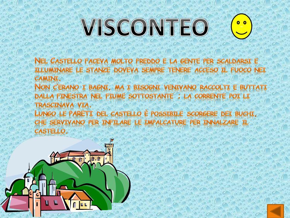 VISCONTEO - Nel Castello faceva molto freddo e la gente per scaldarsi e illuminare le stanze doveva sempre tenere acceso il fuoco nei camini.
