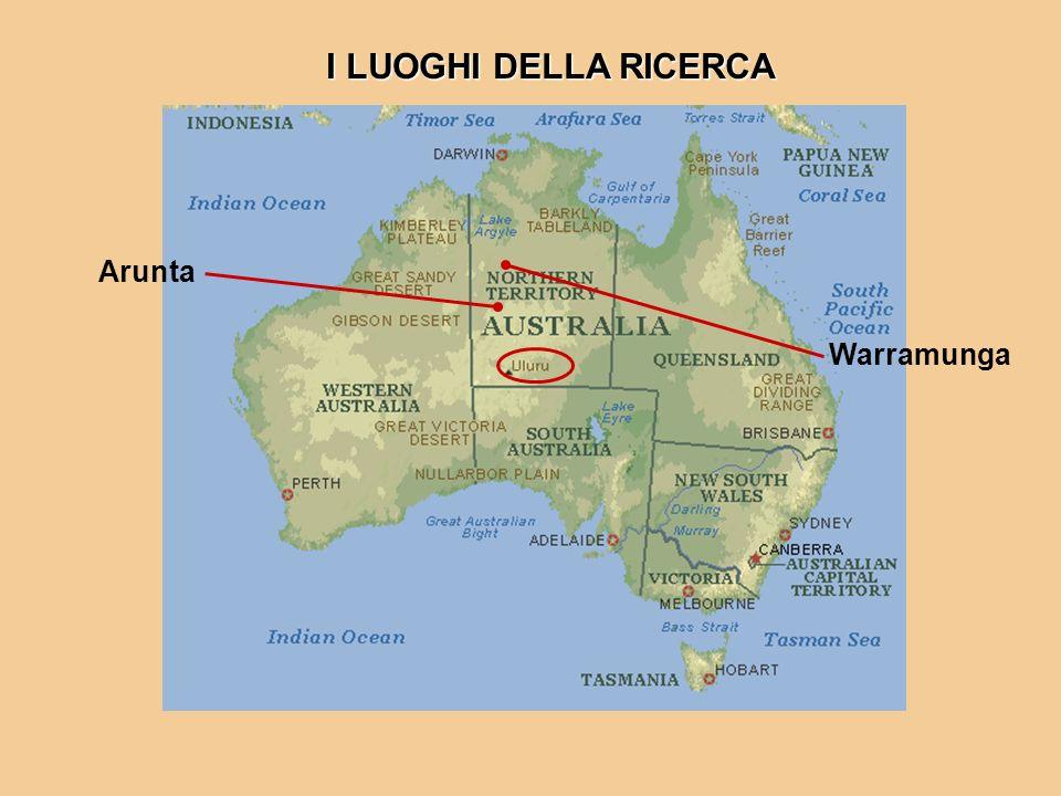 I LUOGHI DELLA RICERCA Arunta Warramunga