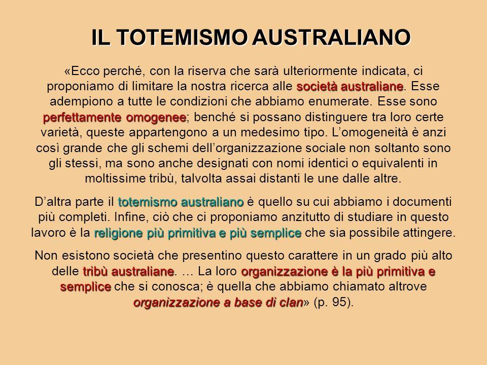 IL TOTEMISMO AUSTRALIANO