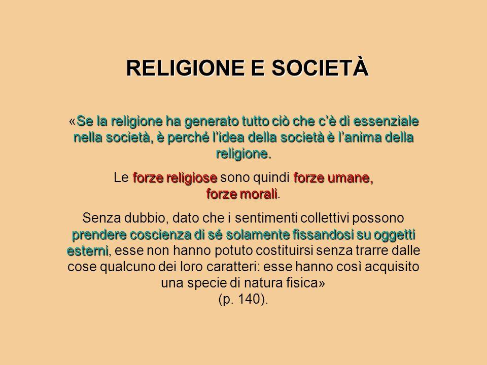 Le forze religiose sono quindi forze umane, forze morali.