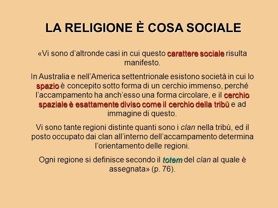 LA RELIGIONE È COSA SOCIALE