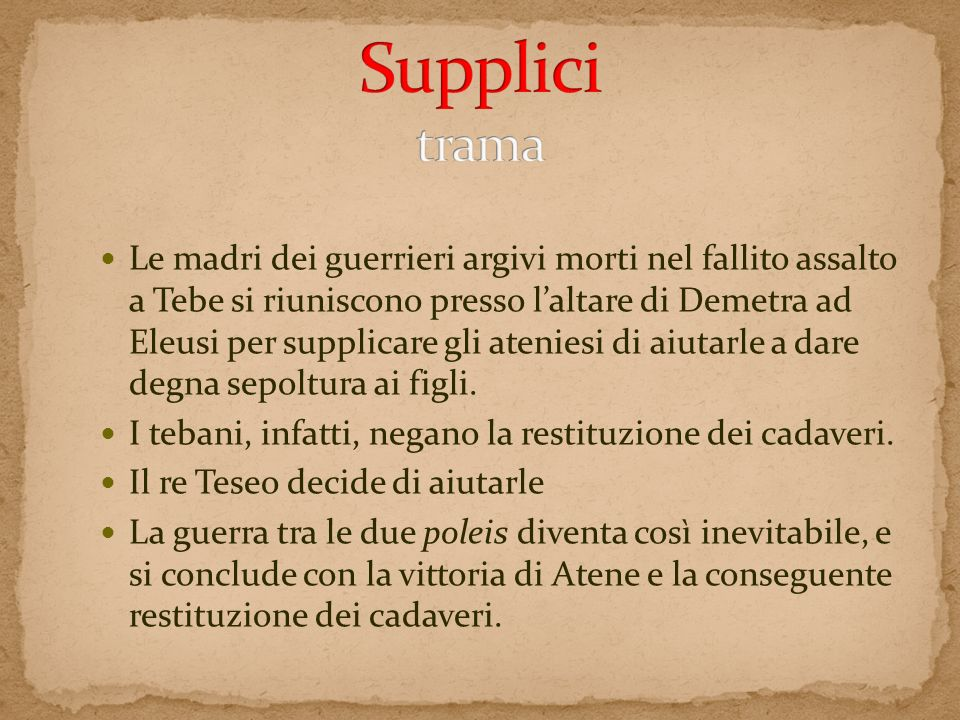 Supplici trama