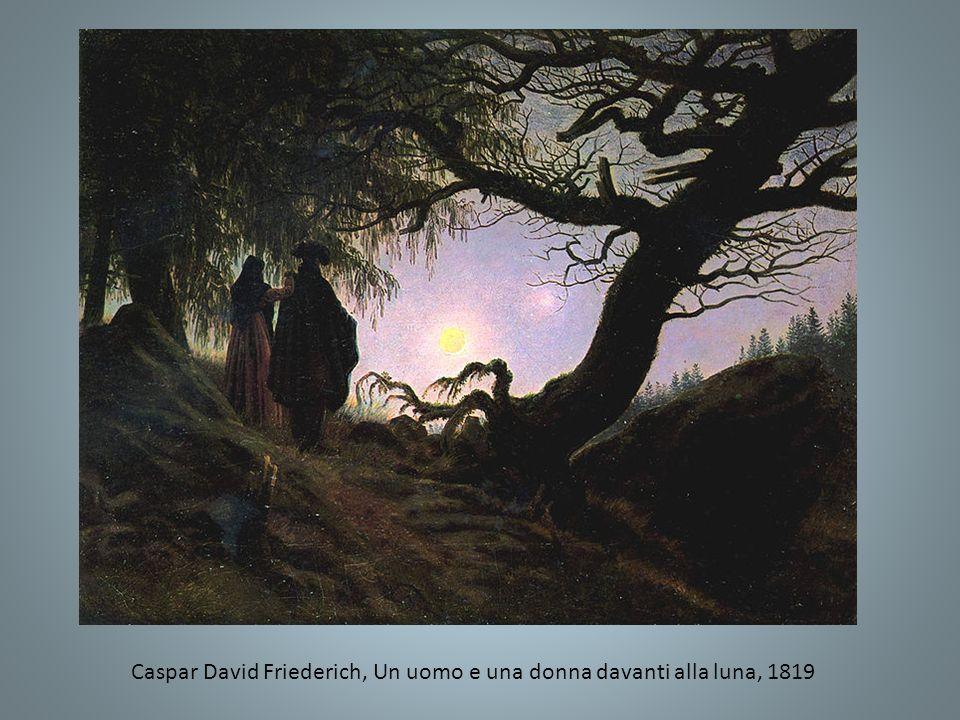 Caspar David Friederich, Un uomo e una donna davanti alla luna, 1819