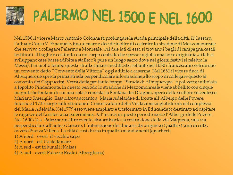 PALERMO NEL 1500 E NEL 1600
