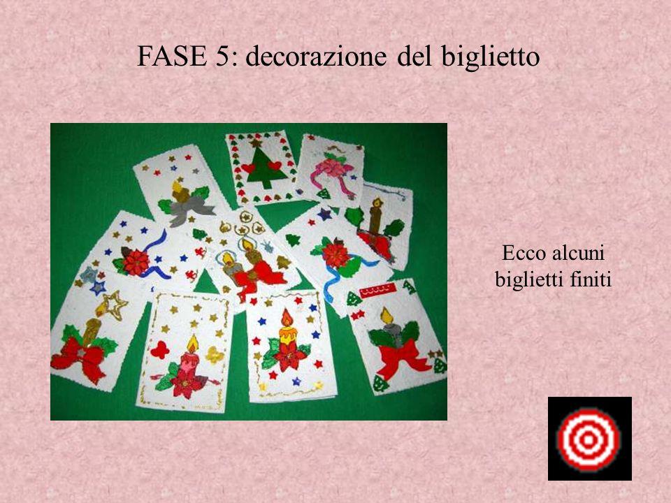 FASE 5: decorazione del biglietto