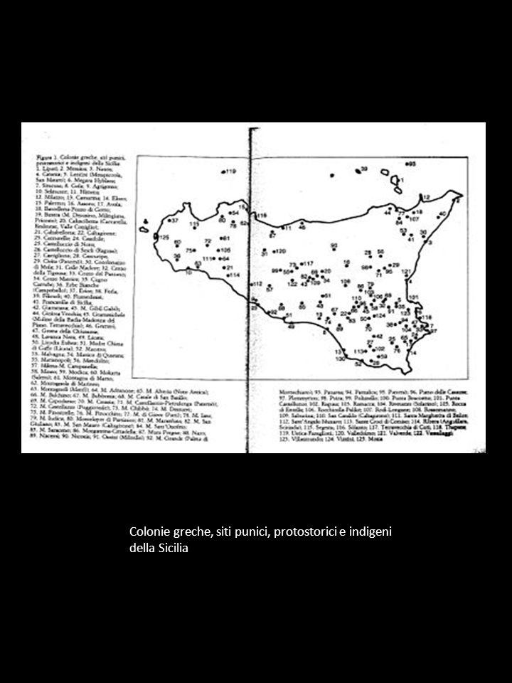 Colonie greche, siti punici, protostorici e indigeni della Sicilia