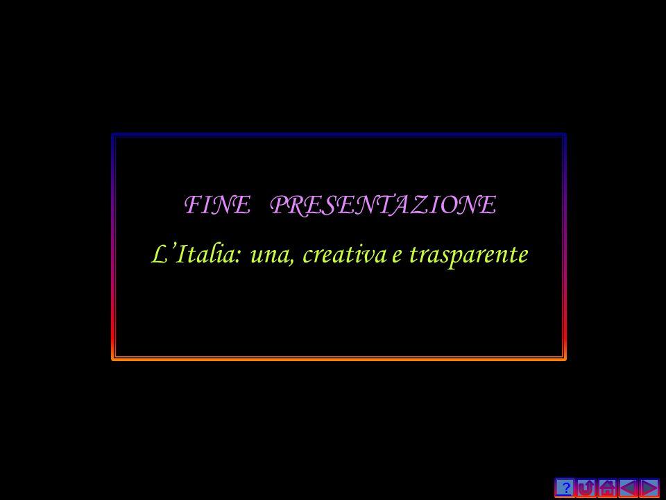 L'Italia: una, creativa e trasparente