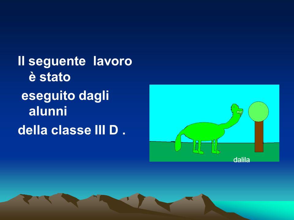 Il seguente lavoro è stato eseguito dagli alunni della classe III D .