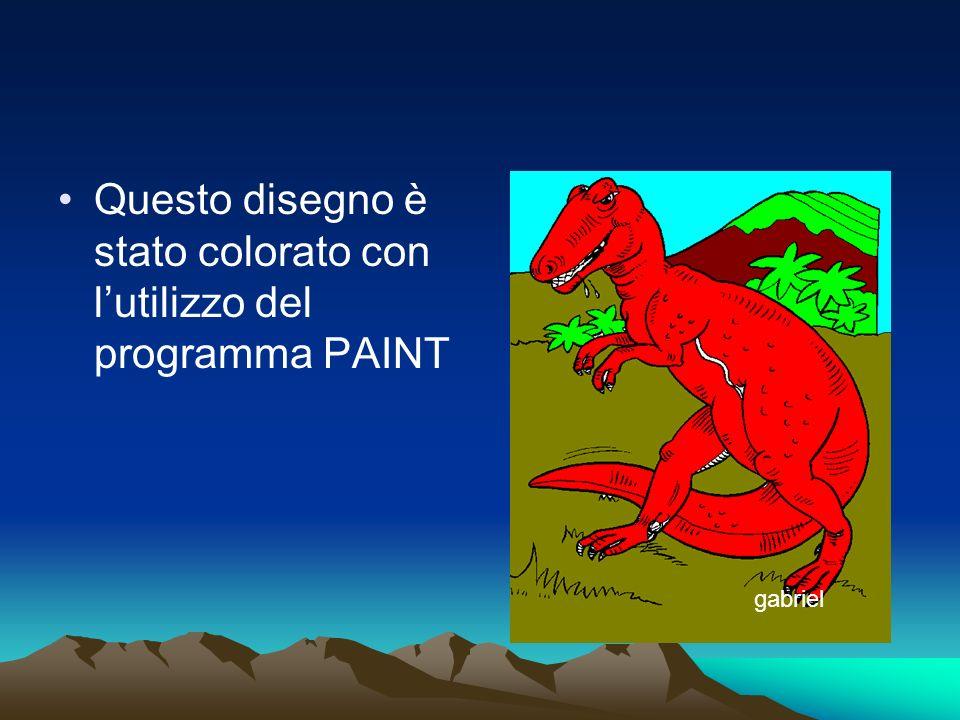 Questo disegno è stato colorato con l'utilizzo del programma PAINT