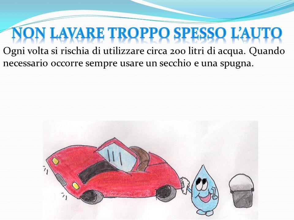 NON LAVARE TROPPO SPESSO L'AUTO