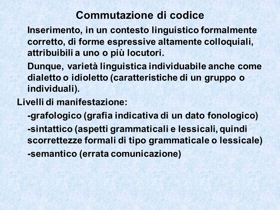 Commutazione di codice
