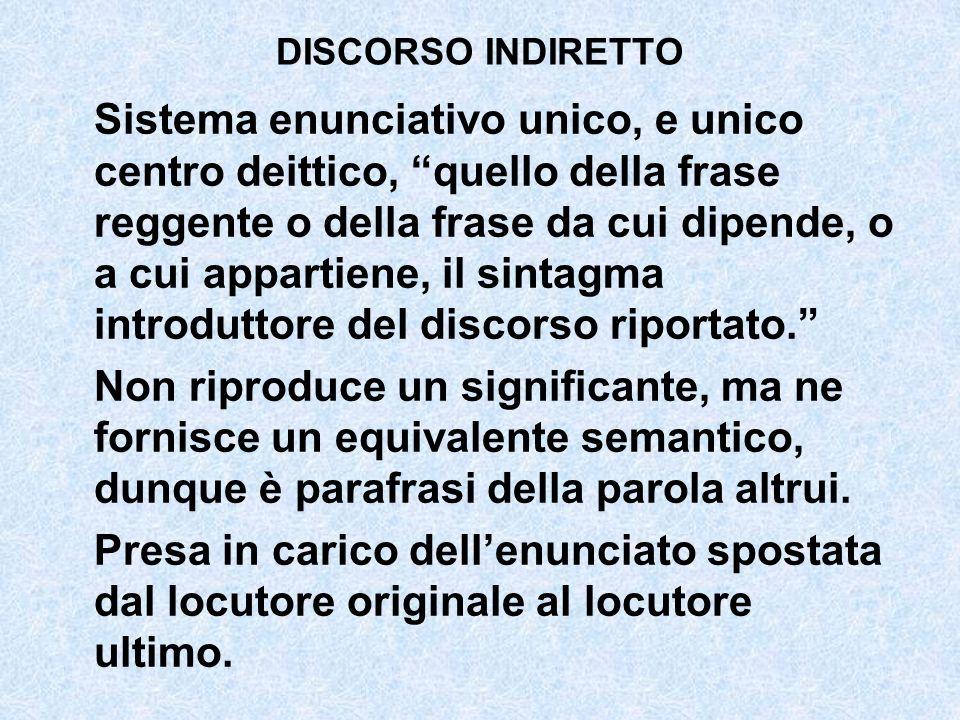 DISCORSO INDIRETTO