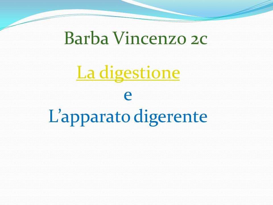 Barba Vincenzo 2c La digestione e L'apparato digerente