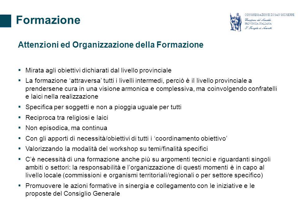 Formazione Attenzioni ed Organizzazione della Formazione