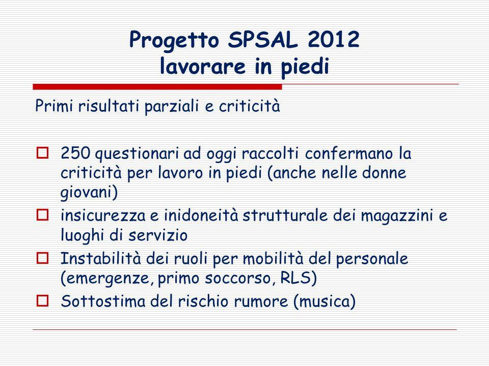 Progetto SPSAL 2012 lavorare in piedi
