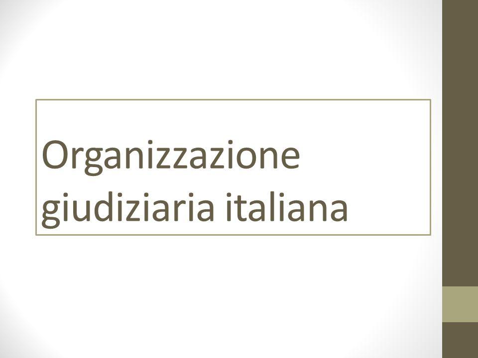 Organizzazione giudiziaria italiana