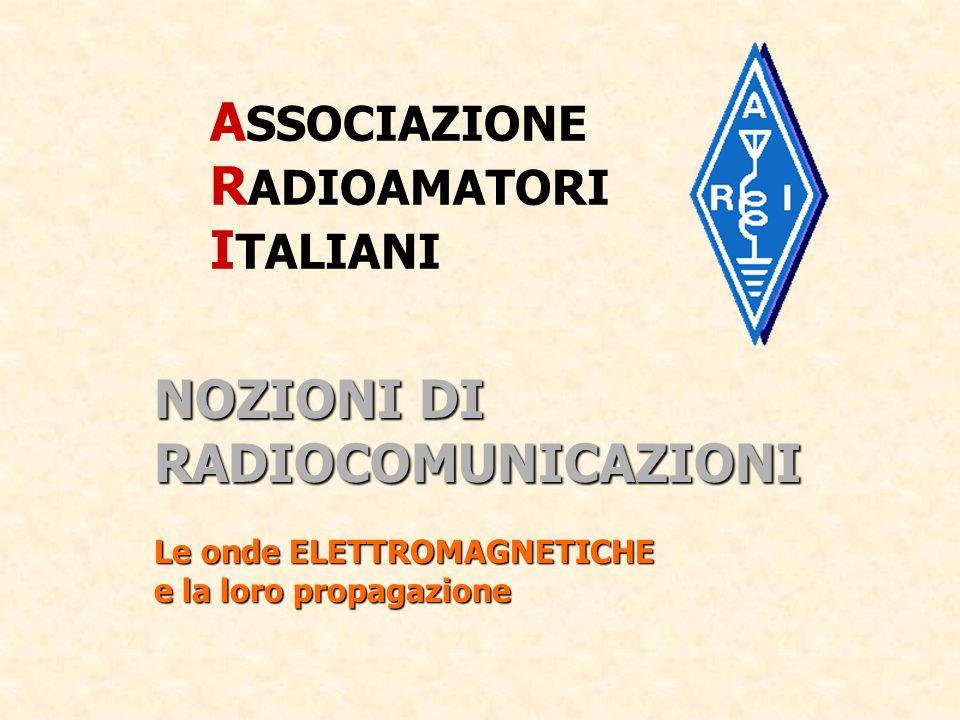 ASSOCIAZIONE RADIOAMATORI ITALIANI NOZIONI DI RADIOCOMUNICAZIONI