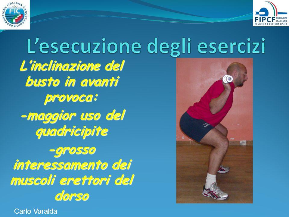 L'esecuzione degli esercizi